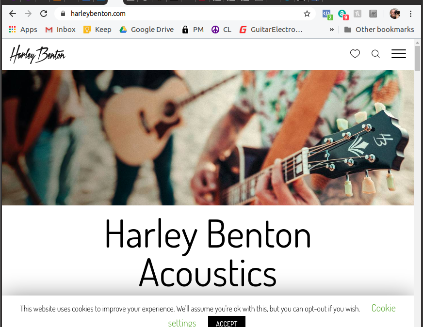 New Harley Benton Website