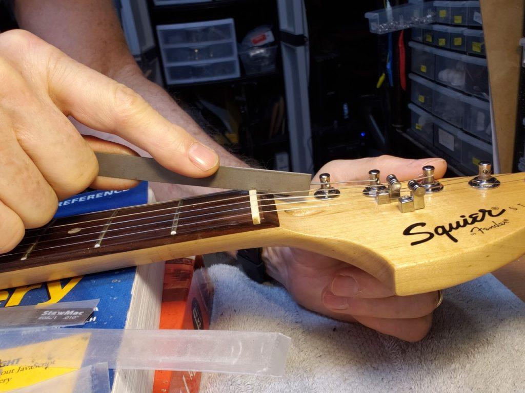 File Guitar Nut Slots