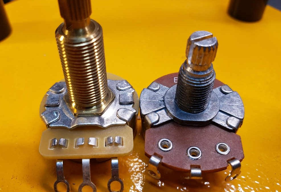 Guitar potentiometer brand differences pots