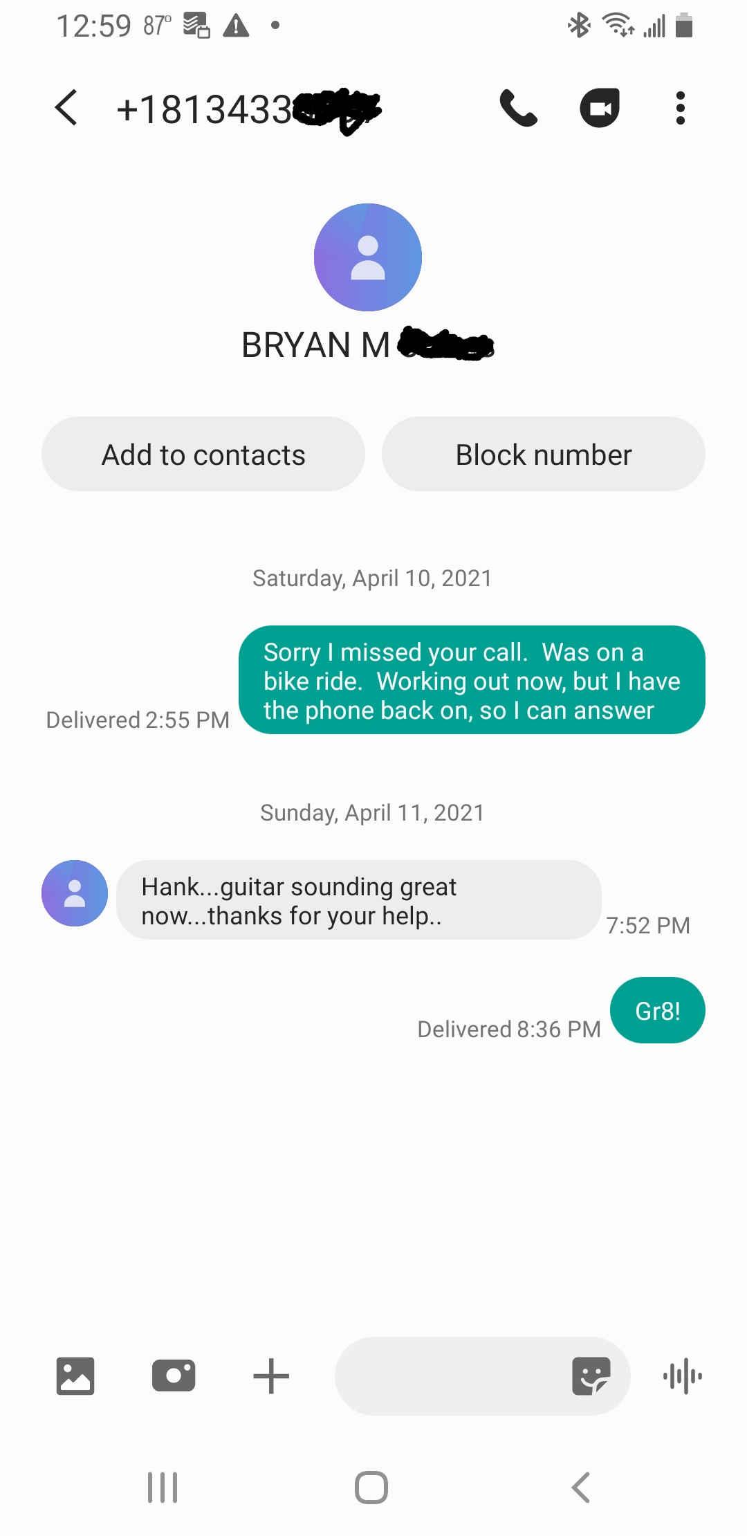 Tampa guitar repair testimonials