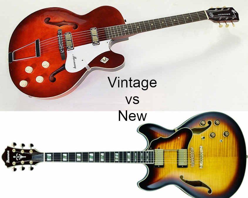 Vintage vs New Guitars